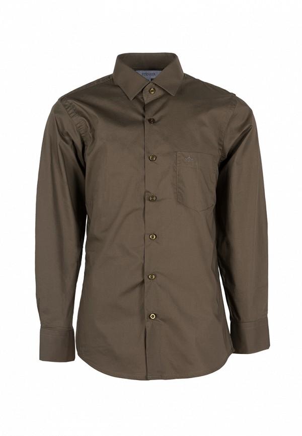 рубашка stenser для мальчика, коричневая