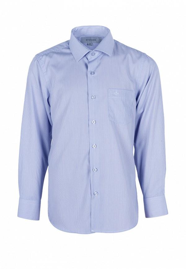 рубашка stenser для мальчика, голубая