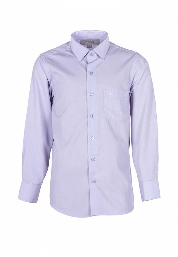 рубашка stenser для мальчика, фиолетовая