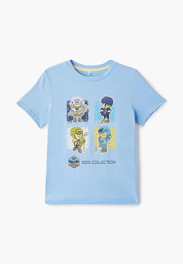 футболка с коротким рукавом луч для мальчика, голубая