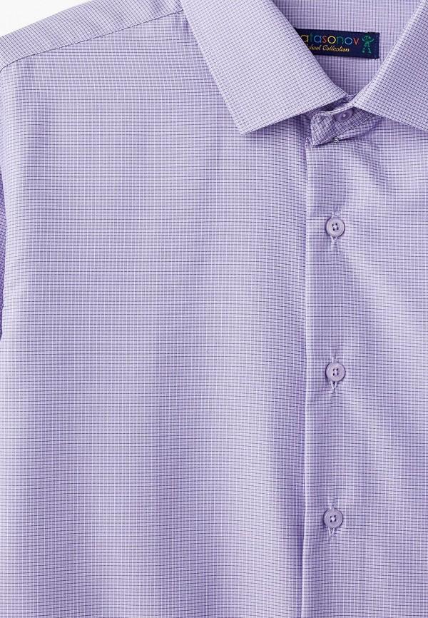 Рубашка для мальчика Katasonov цвет фиолетовый  Фото 3