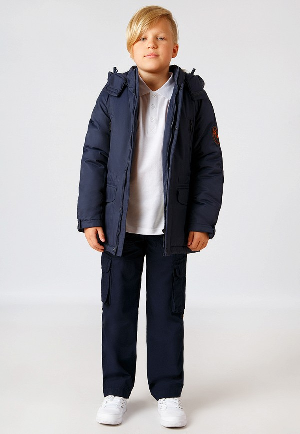 Куртка для мальчика утепленная Finn Flare цвет синий  Фото 3