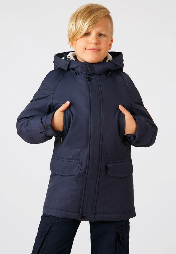 Куртка для мальчика утепленная Finn Flare цвет синий  Фото 2
