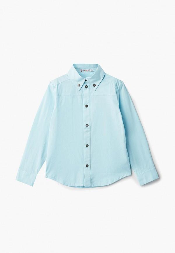 рубашка chadolini для мальчика, бирюзовая