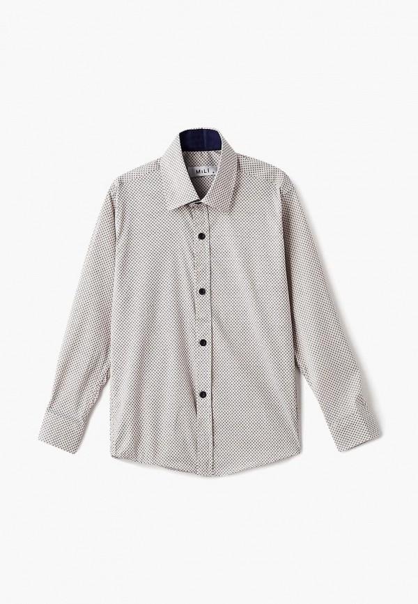 рубашка mili для мальчика, бежевая