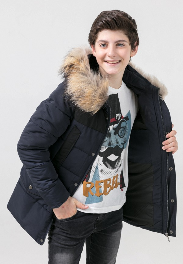 Куртка для мальчика утепленная Jan Steen цвет синий  Фото 6
