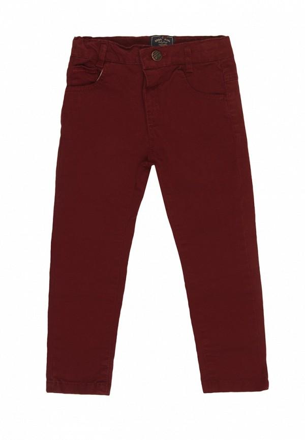 брюки noble people для мальчика, бордовые