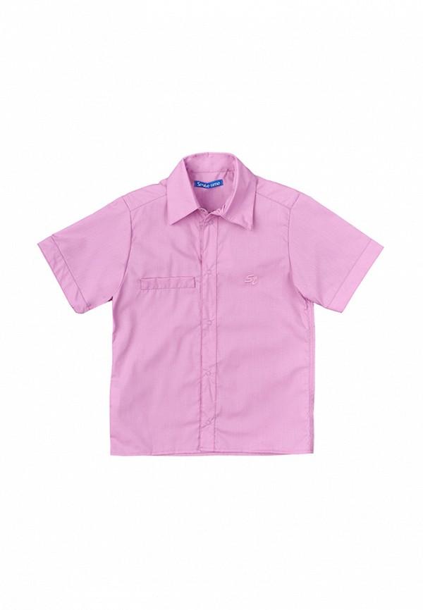 рубашка smile time для мальчика, фиолетовая