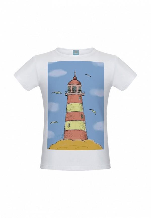 футболка с коротким рукавом lisa&leo для мальчика, белая
