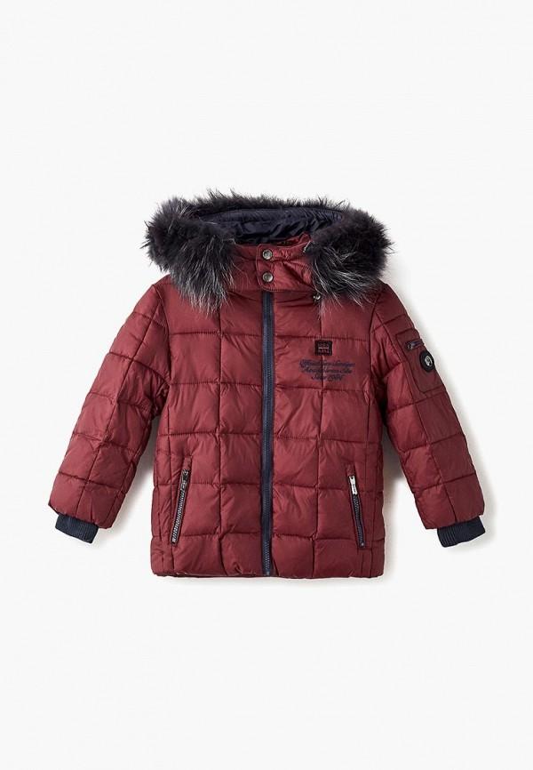куртка mes ami для мальчика, бордовая