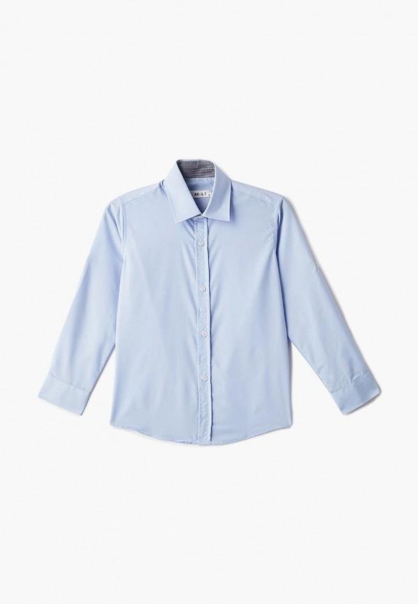 рубашка mili для мальчика, голубая