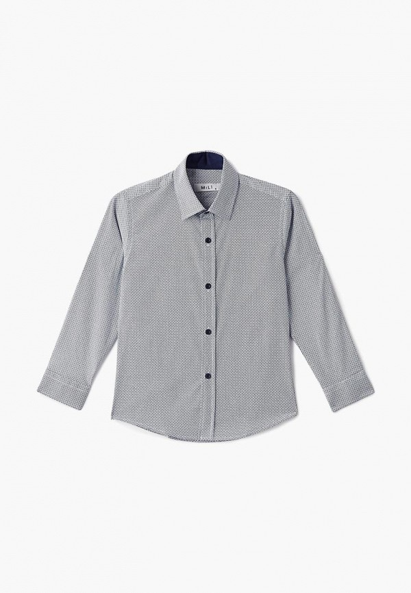 рубашка mili для мальчика, синяя