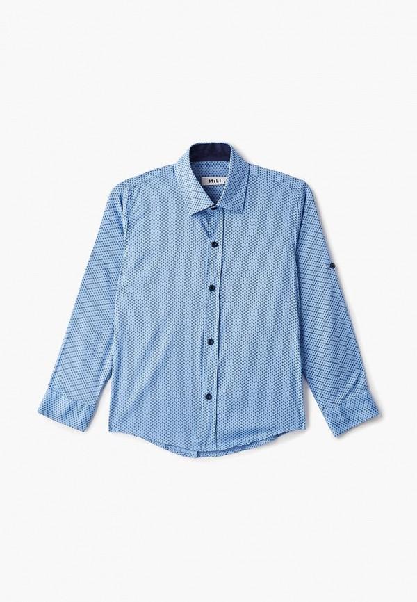 Купить Рубашка MiLi, голубой, boys, Весна-лето 2019, Рубашки