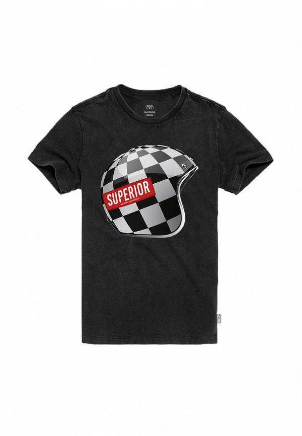футболка с коротким рукавом le temps des cerises для мальчика, черная