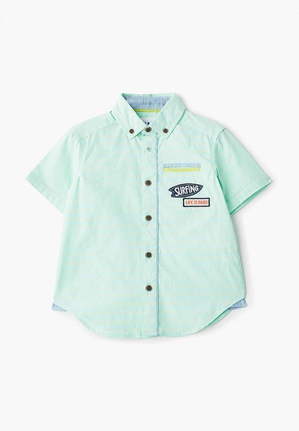 рубашка infunt для мальчика, зеленая