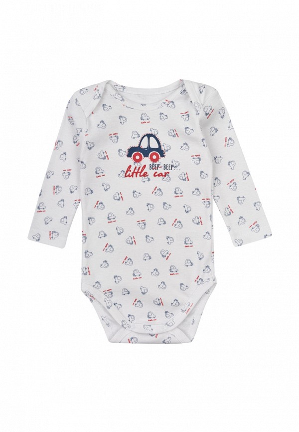 боди фламинго текстиль для мальчика, белые