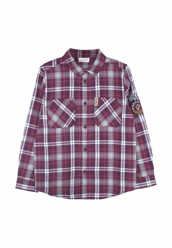 рубашка coccodrillo для мальчика, бордовая