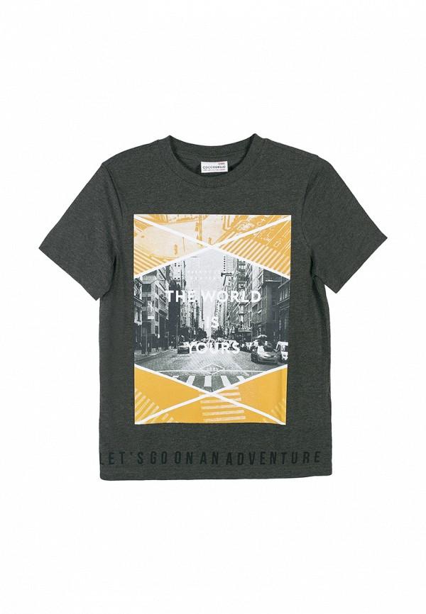футболка с коротким рукавом coccodrillo для мальчика, хаки