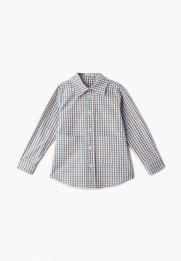 рубашка bubble's magic для мальчика, коричневая