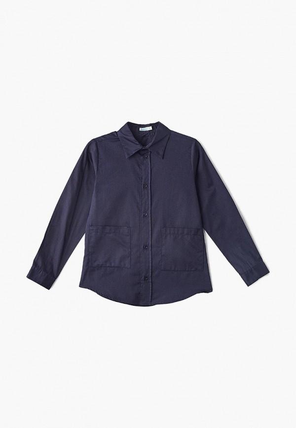 рубашка bubble's magic для мальчика, синяя