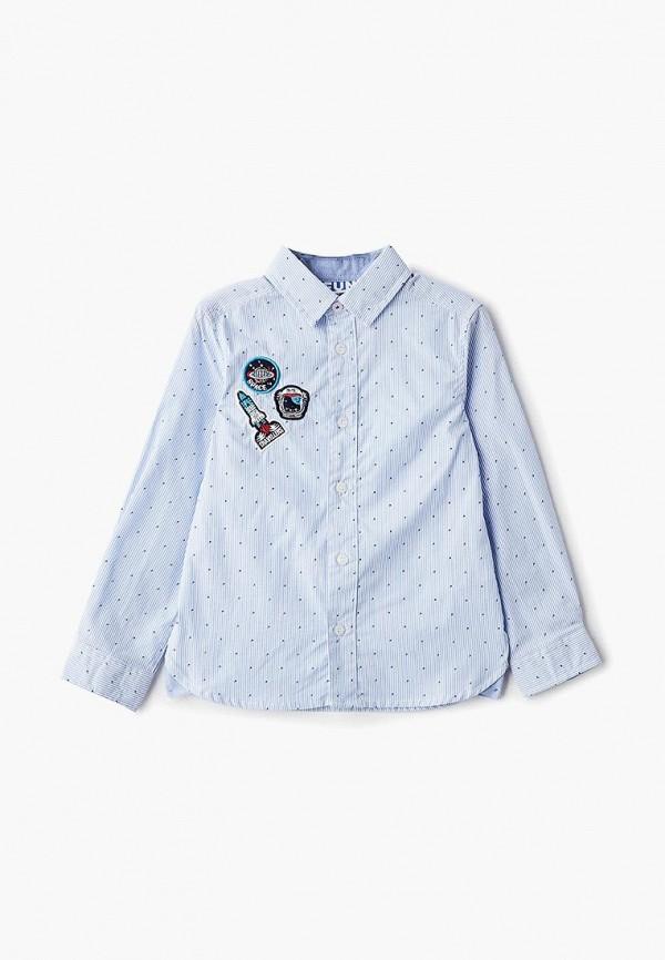 рубашка infunt для мальчика, синяя