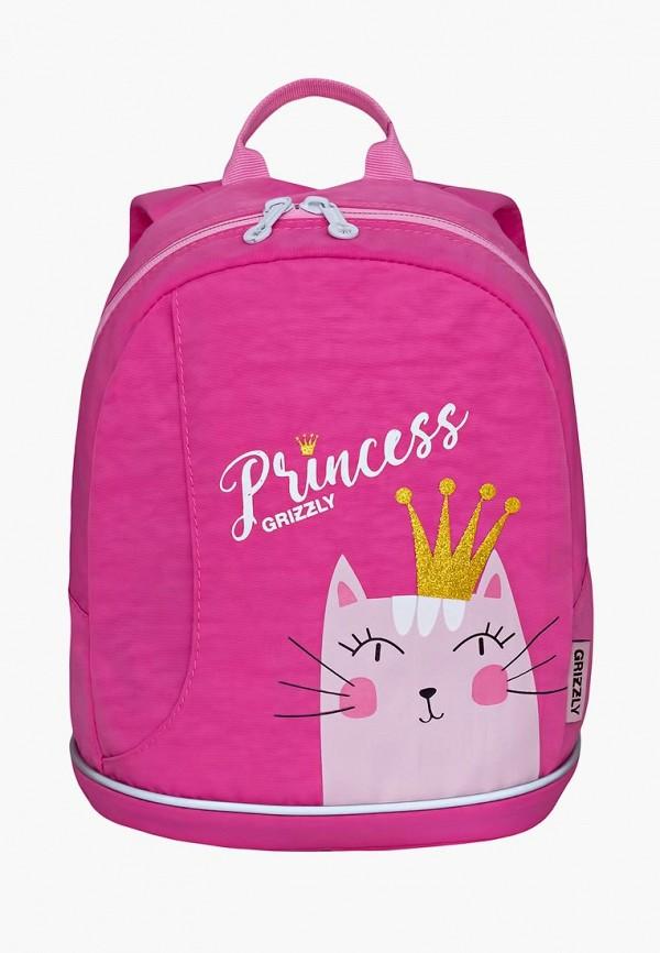 рюкзак grizzly для мальчика, розовый