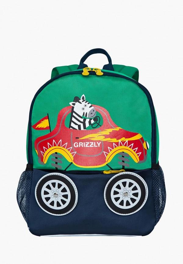 рюкзак grizzly для мальчика, зеленый