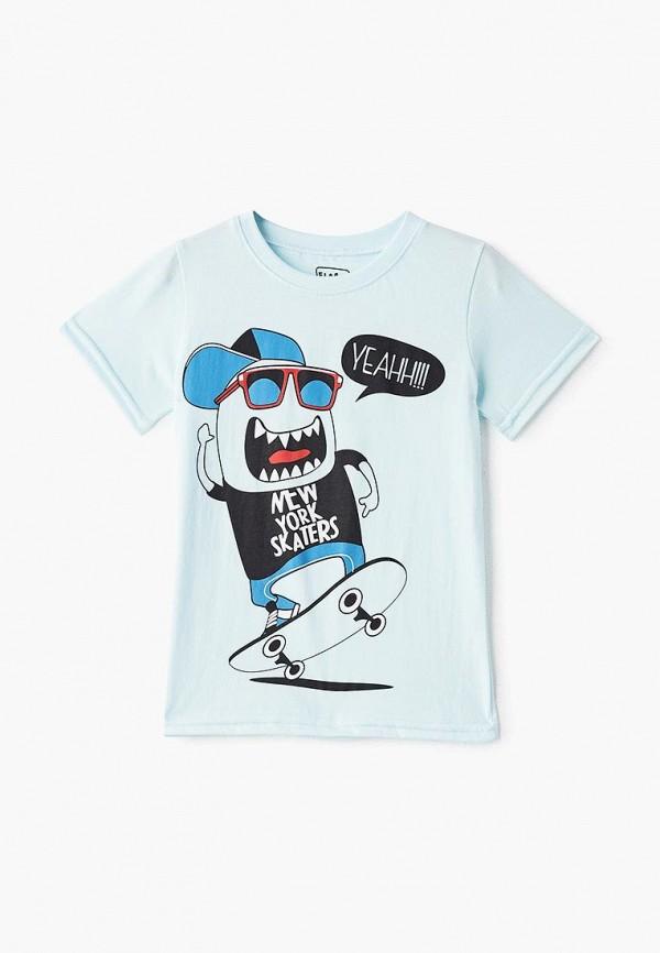 футболка с коротким рукавом elaria для мальчика, голубая