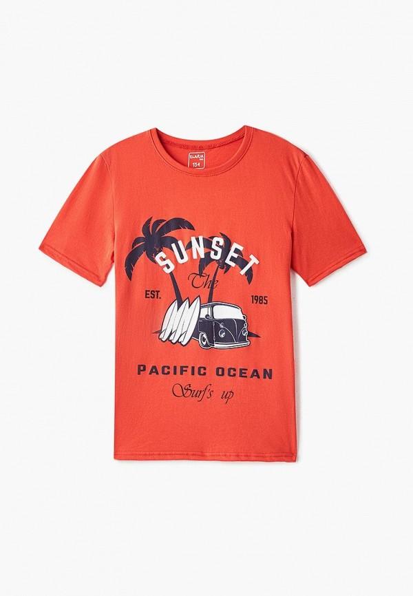 футболка с коротким рукавом elaria для мальчика, красная