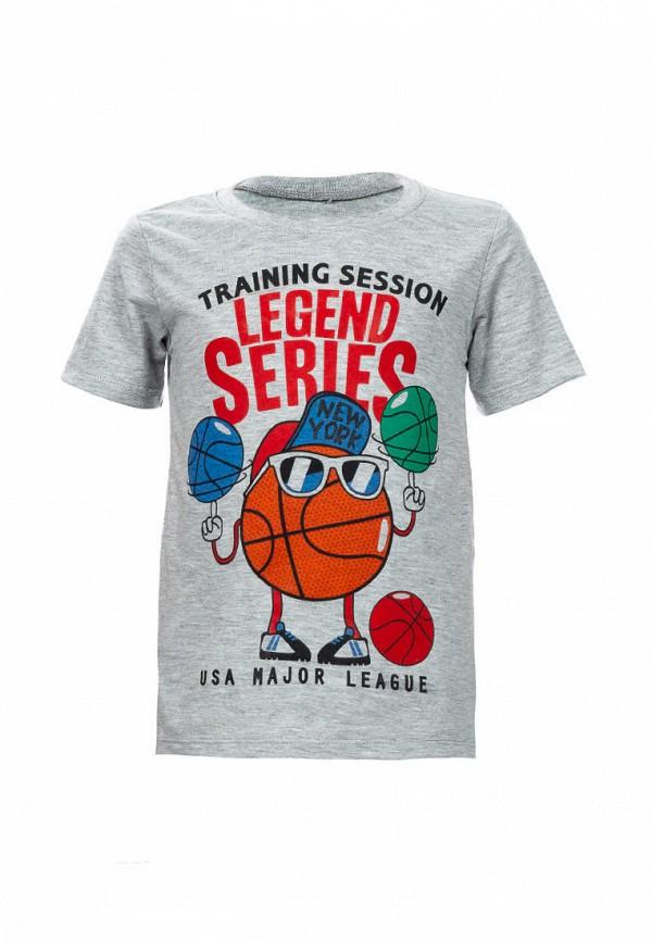 футболка с коротким рукавом elaria для мальчика, серая