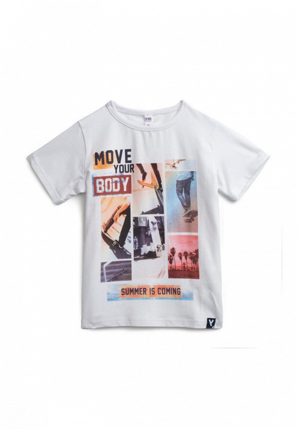 футболка с коротким рукавом playtoday для мальчика, белая