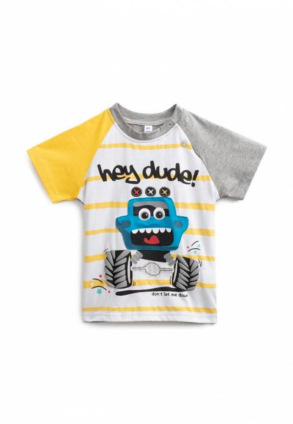 футболка с коротким рукавом playtoday для мальчика, разноцветная