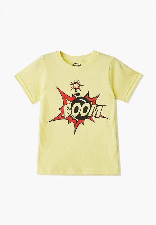 футболка с коротким рукавом elaria для мальчика, желтая