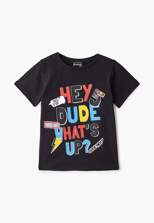 футболка с коротким рукавом elaria для мальчика, черная