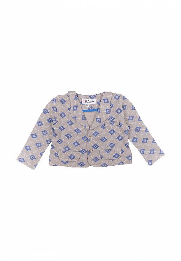 пиджак incomer для мальчика, серый
