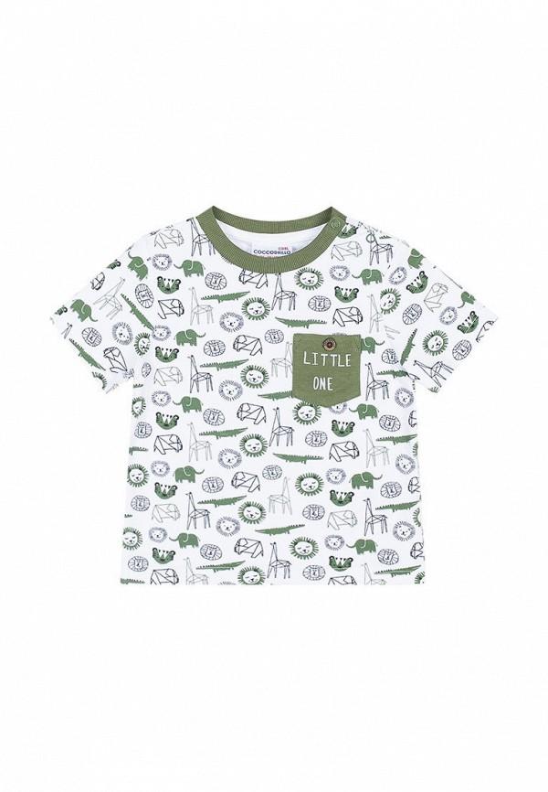футболка coccodrillo для мальчика, белая