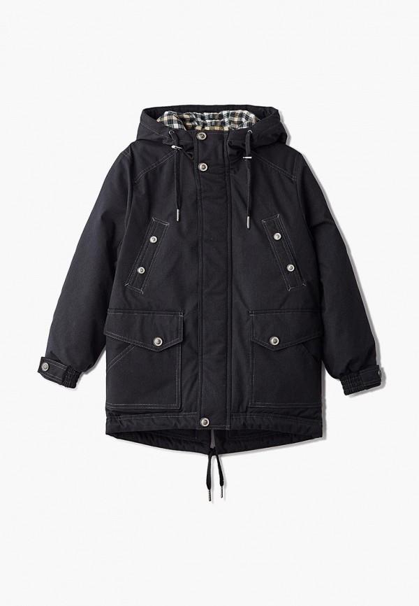 куртка saima для мальчика, черная