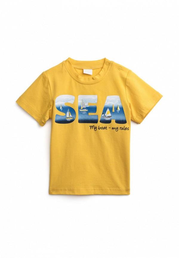 футболка с коротким рукавом playtoday для мальчика, желтая