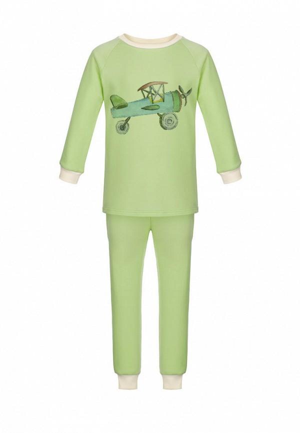 пижама lisa&leo для мальчика, зеленая