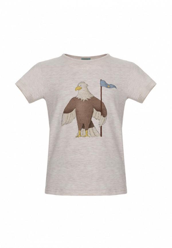 футболка с коротким рукавом lisa&leo для мальчика, бежевая