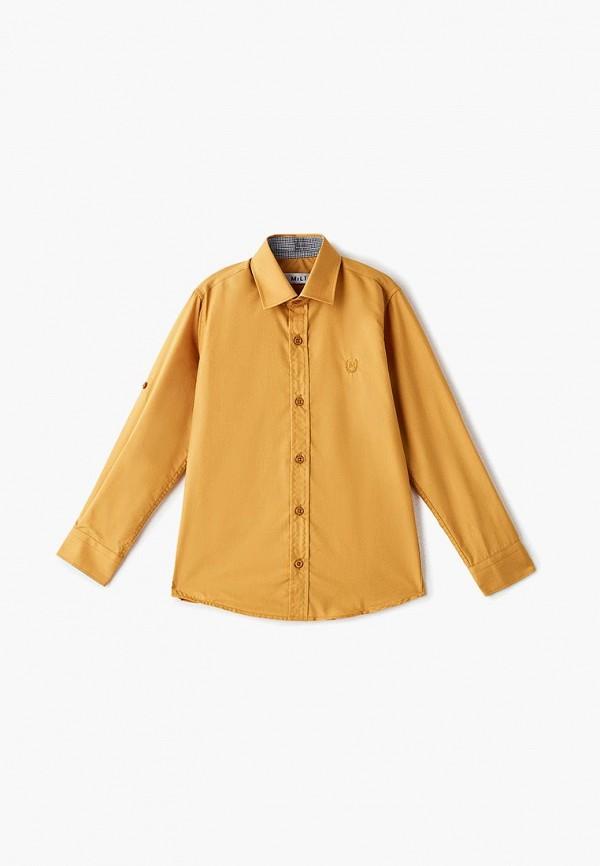 рубашка mili для мальчика, желтая