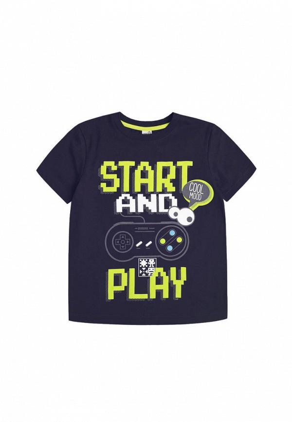 футболка с коротким рукавом crockid для мальчика, серая