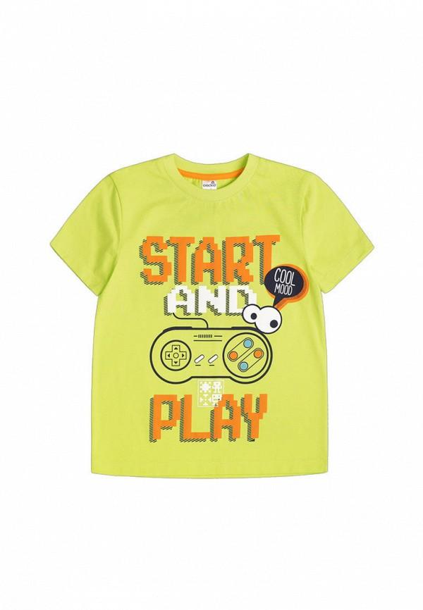 футболка с коротким рукавом crockid для мальчика, зеленая