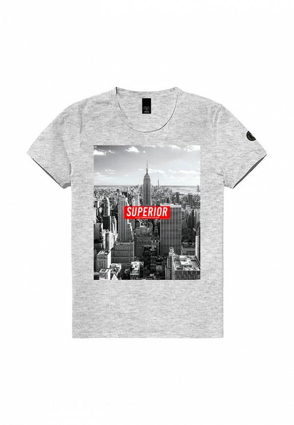 футболка le temps des cerises для мальчика, серая
