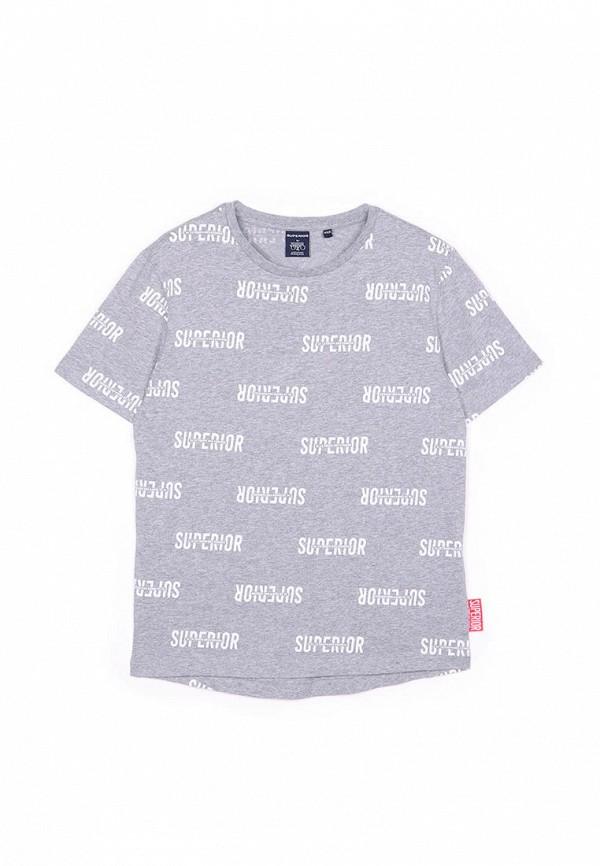 футболка с коротким рукавом le temps des cerises для мальчика, серая