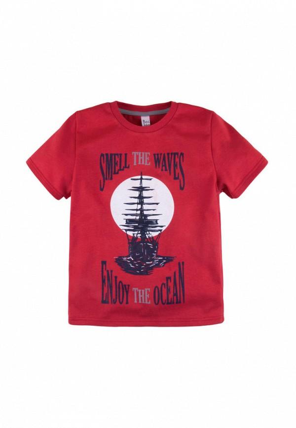футболка с коротким рукавом bossa nova для мальчика, красная