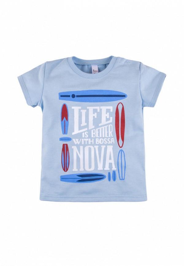 футболка с коротким рукавом bossa nova для мальчика, голубая