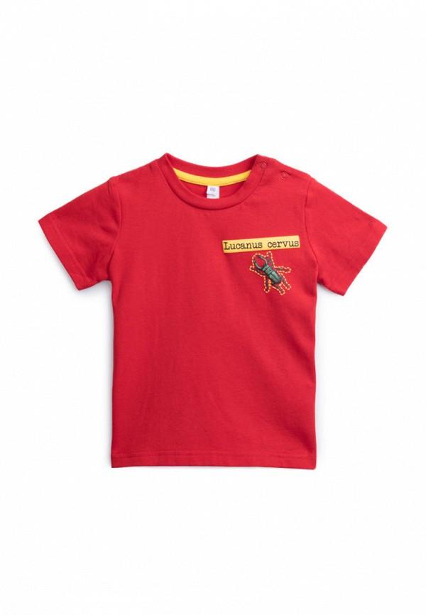 футболка с коротким рукавом playtoday для мальчика, красная
