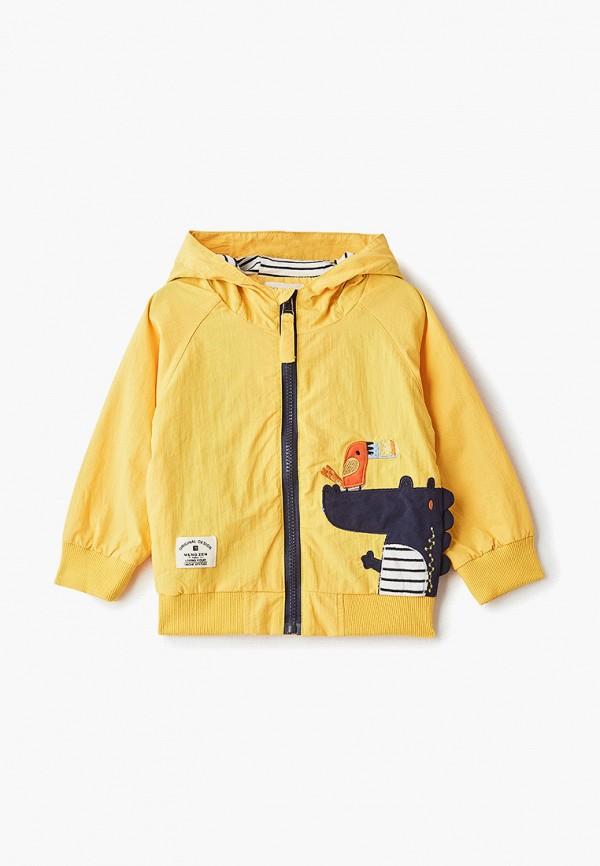 куртка moon river для мальчика, желтая
