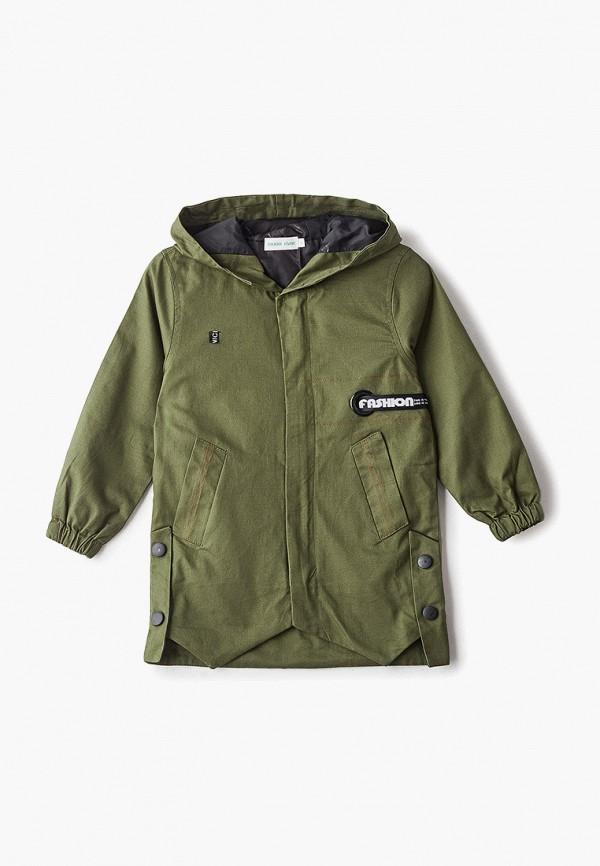 куртка moon river для мальчика, зеленая